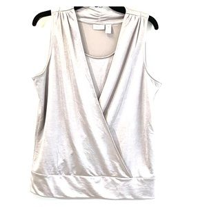 Chico's  Silver Crossover Sleeveless Blouse